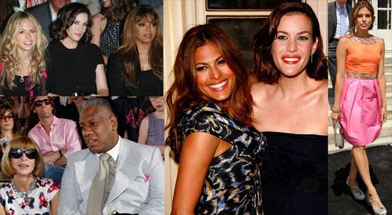 Photos of Liv Tyler, Eva Mendes, Janet Jackson, Claudia Schiffer and Anna Wintour at Paris Couture Fashion Week