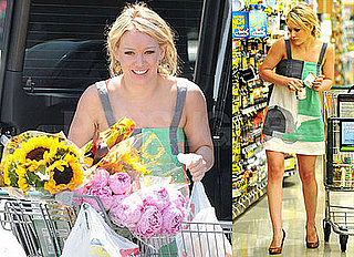 Photos of Hilary Duff Buying Sunflowers
