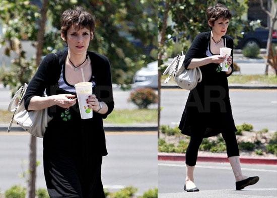 Photos of Winona Ryder Drinking Jamba Juice