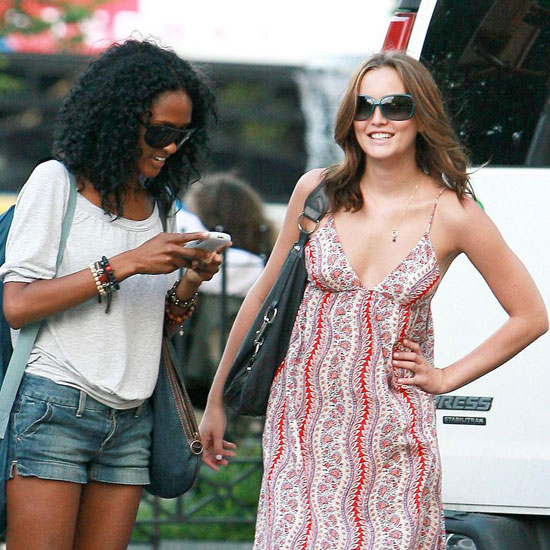 Photo of Leighton Meester and Nicole Fiscella in Greenwich Village