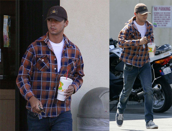 Photos of Shia LaBeouf in LA Walking Past Cops