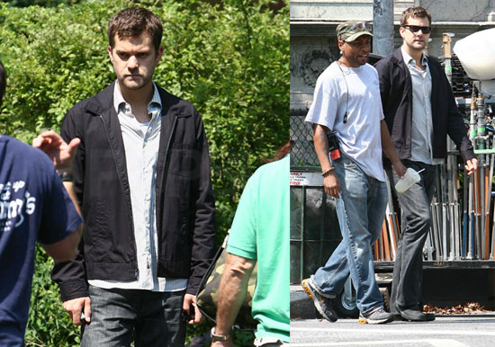 Photos of Joshua Jackson on the Set of Fringe in Brooklyn