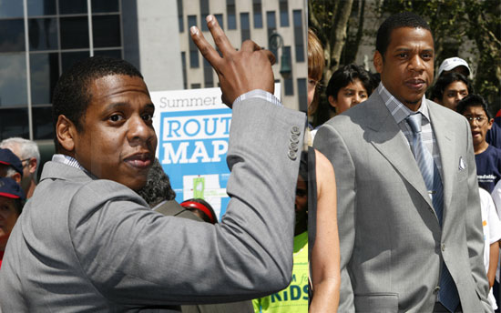 Photos of Jay-Z Closing Park Avenue With Mayor Bloomberg in NYC