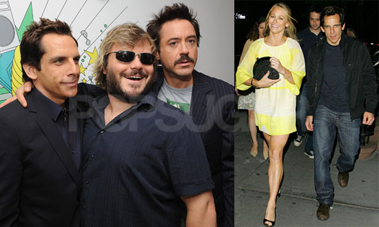 Photos of Ben Stiller, Robert Downey Jr, and Jack Black at TRL