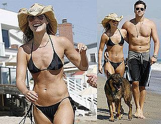 Photos of Ali Larter in a Bikini With Shirtless Boyfriend Hayes MacArthur on Malibu Beach