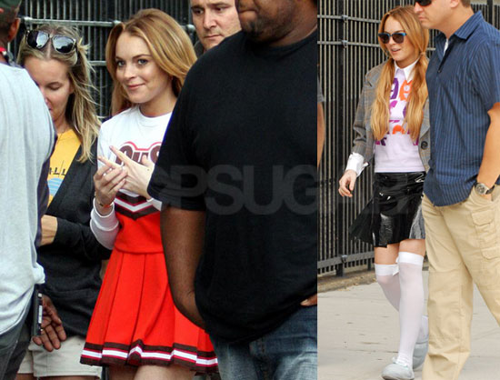Photos of Lindsay Lohan on the Set of Ugly Betty in New York