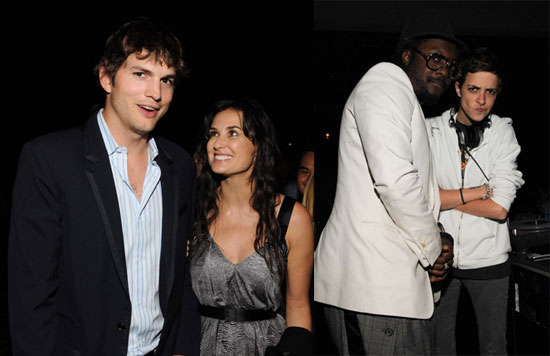 Photos of Ashton Kutcher, Demi Moore, Soleil Moon Frye, Samantha Ronson, and Will I Am at the TechCrunch 50 Event