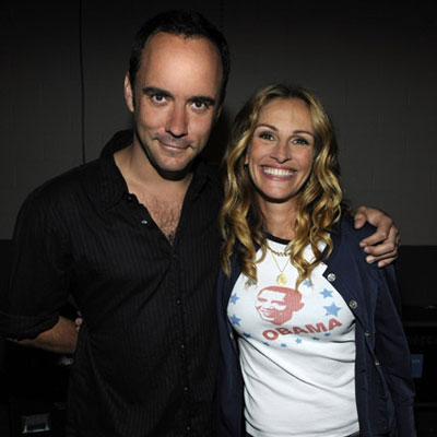 Julia Roberts and Dave Matthews At Cancer Benefit at NYC