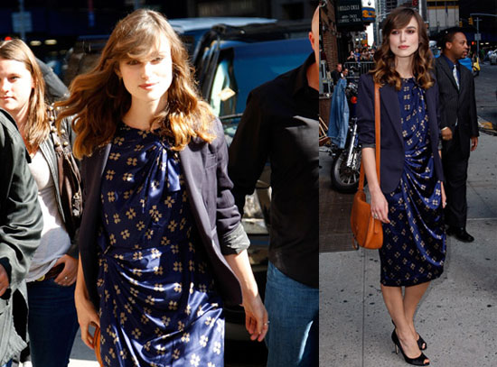 Photos and Video of Keira Knightley on The Late Show
