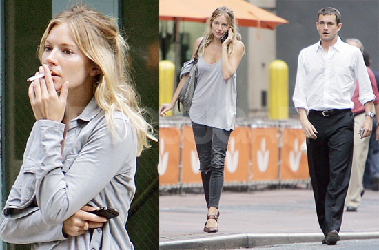 Photos of Sienna Miller and Hugh Dancy Grabbing Lunch in NYC