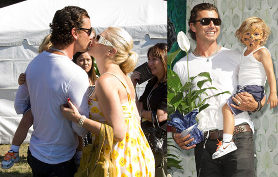 Photos of Gwen Stefani, Gavin Rossdale, and Kingston Rossdale at Roots & Shoots