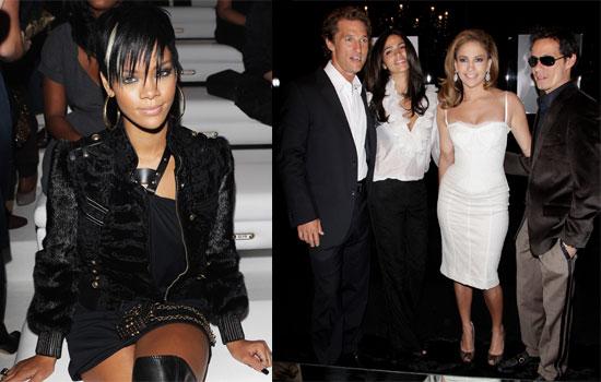 Photos of Rihanna, Matthew McConaughey, Camila Alves,
