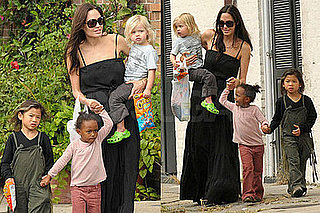 Photos of Angelina Jolie, Shiloh Jolie-Pitt, Pax Jolie-Pitt, Zahara Jolie-Pitt in New Orleans