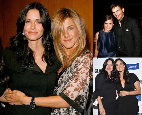 Photos of Courteney Cox, Demi Moore, Ashton Kutcher, Jennifer Aniston at Glamour Reel Moments Party