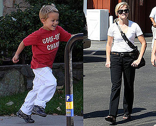 Photos of Reese Witherspoon Bringing Deacon to Karate Class