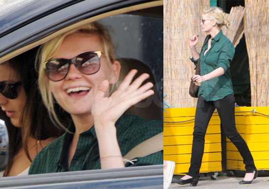 Photos of Smiling Kirsten Dunst Out in LA