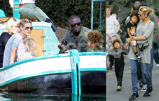 Photos of Heidi Klum, Seal, Jonah Samuels, Henry Samuels, Leni Klum at Disneyland