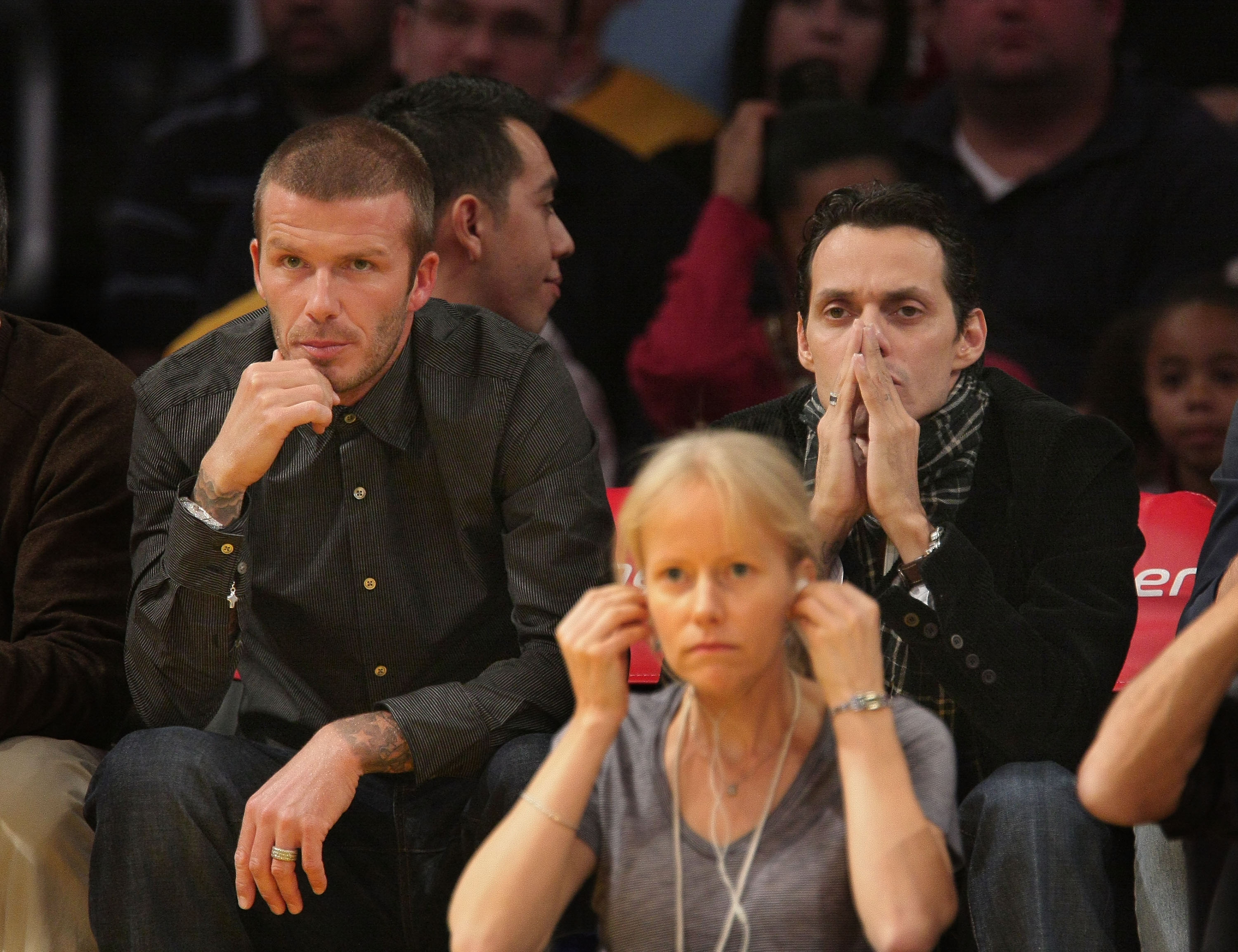 Lakers Game Kate Hudson and Dax Shepard