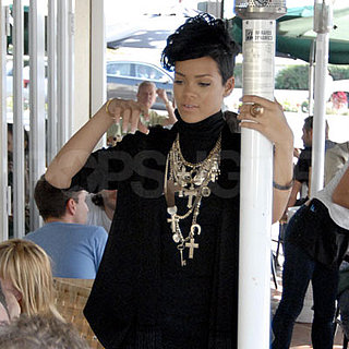 Rihanna Wears Many Necklaces Out in LA