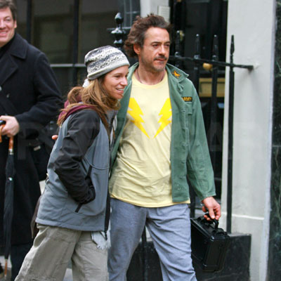Robert Downey Jr and Wife Susan Downey Out in London