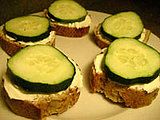 Cucumber and Cream Cheese Snack Recipe