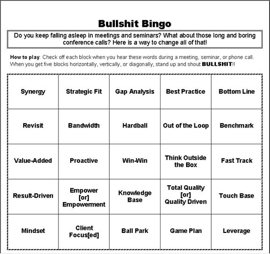 Bullsh*t Bingo