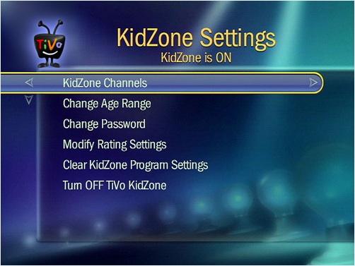 Use TiVo KidZone to Set Parental Controls For Your Children