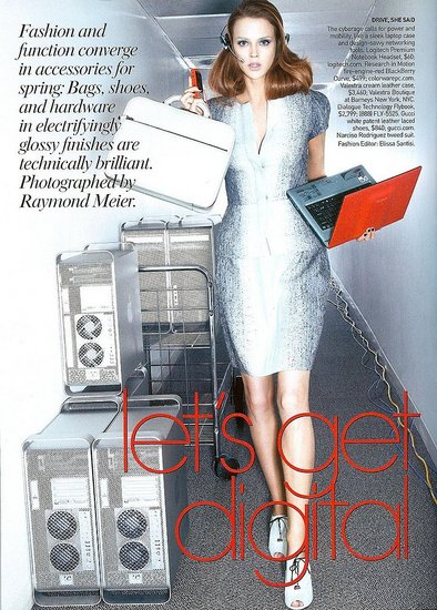 Vogue's Let's Get Digital Photoshoot Features Gadgets and Fashion Together