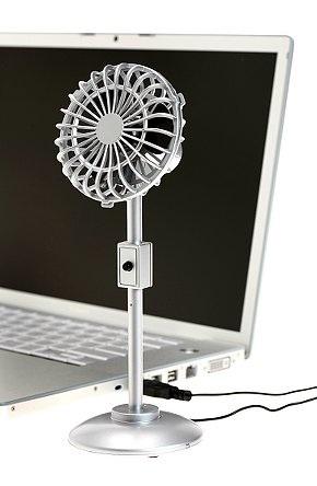 Silver USB Desk Fan