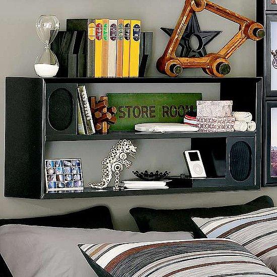 Basic Black Rockin' Speaker Shelf System