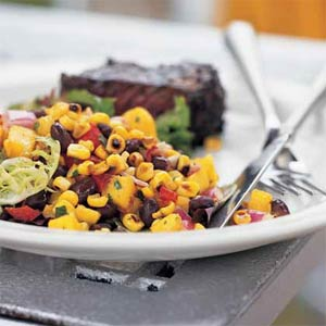 Roasted Corn, Black Bean & Mango Salad