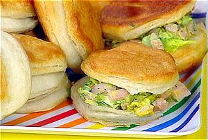 Ham Salad on a Biscuit