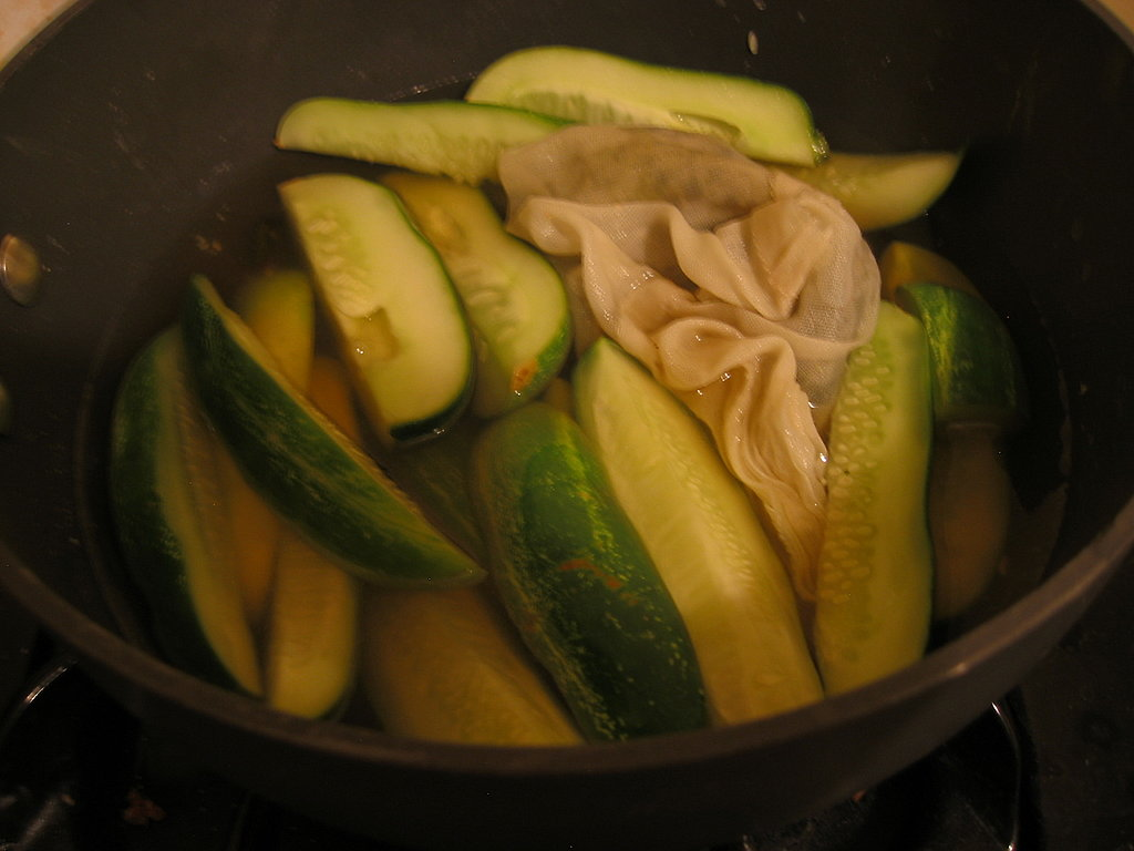 The best part? The cucumbers only cook for a mere five minutes!