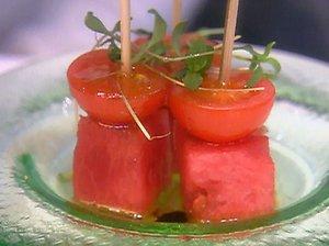Watermelon Tomato Skewers