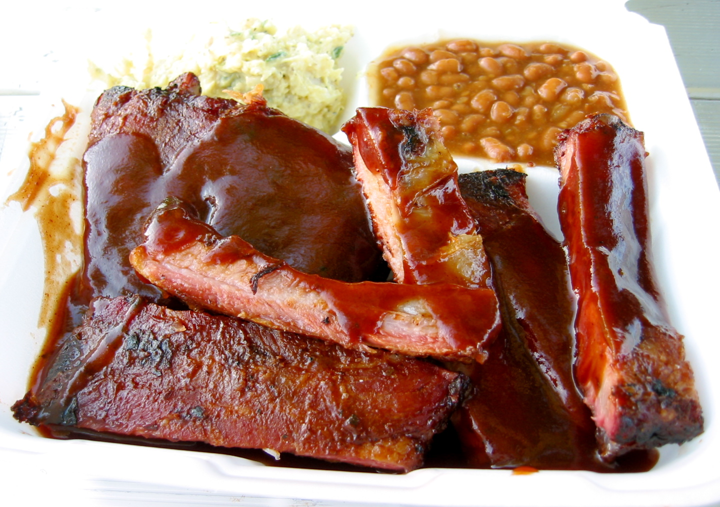 The food at Johnson's BBQ — based out of Norfolk, VA — was my favorite, with a sweet, slightly vinegary sauce.