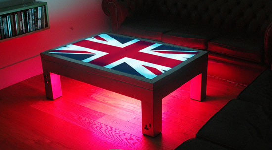 Illuminated Coffee Table from Suck UK