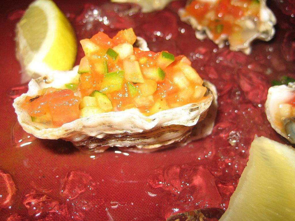 Brick's fresh oysters with gazpacho mignonette were delightful.