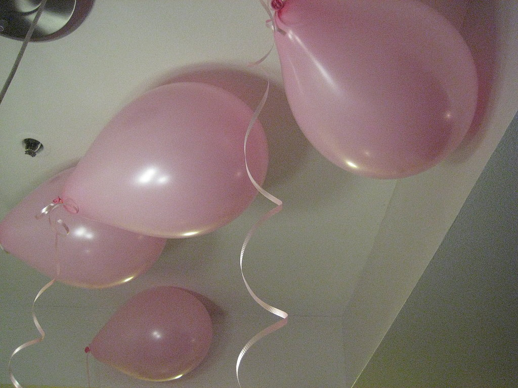 Pretty colored balloons are a simple way to make any room feel more like a party.