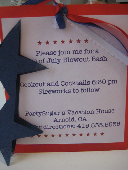 Come Party With Me:  Fourth of July — Invite