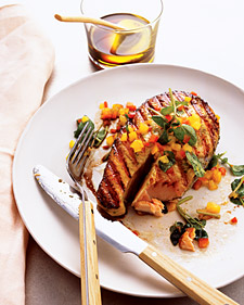Sunday BBQ: Grilled Salmon with Spicy Honey-Basil Sauce