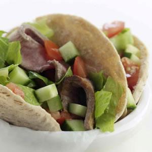 Fast & Easy Dinner: Steak Salad-Stuffed Pockets