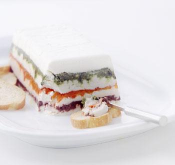 Goat Cheese Pesto Torta