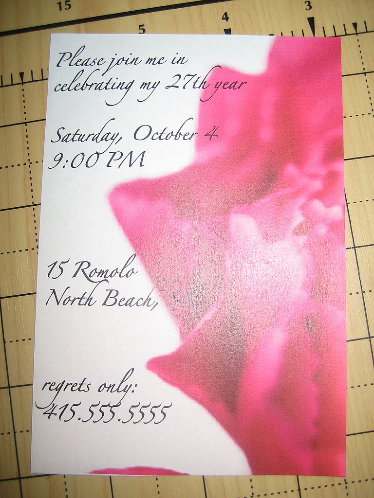 My Birthday Party Invitation: Step by Step