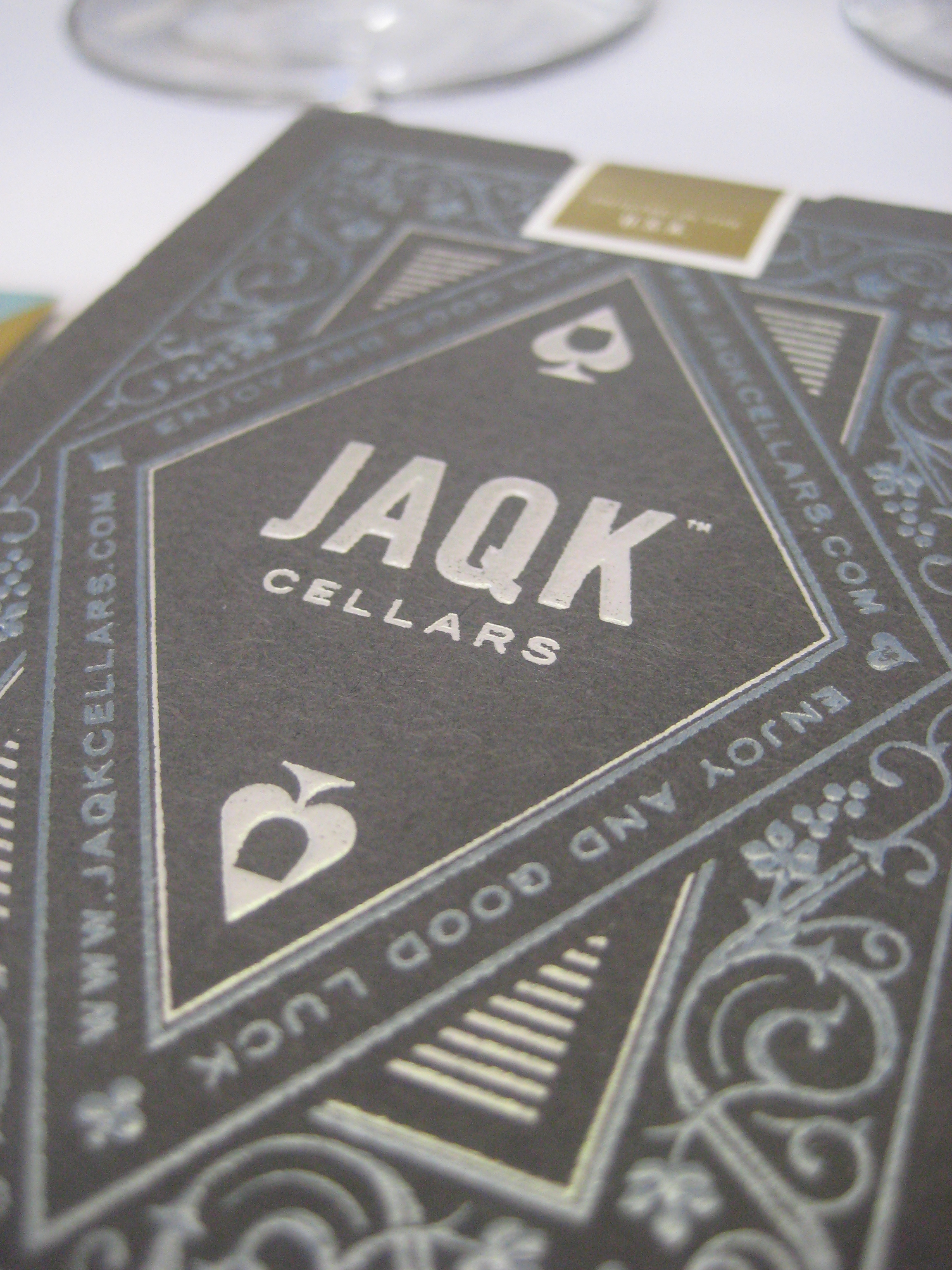 I was given a decorative pack of JAQK playing cards as a party favor.
