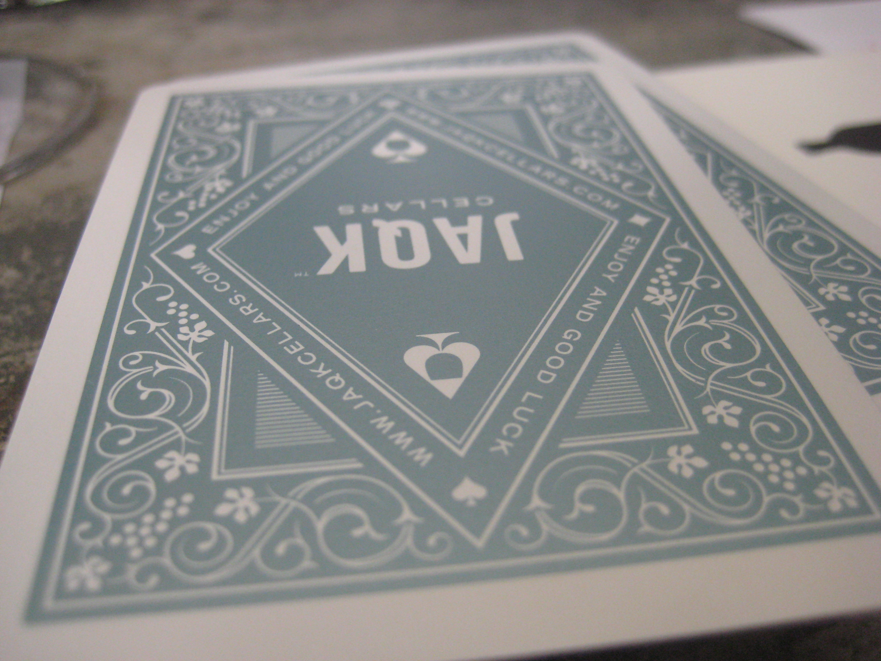 The playing cards out of their deck.