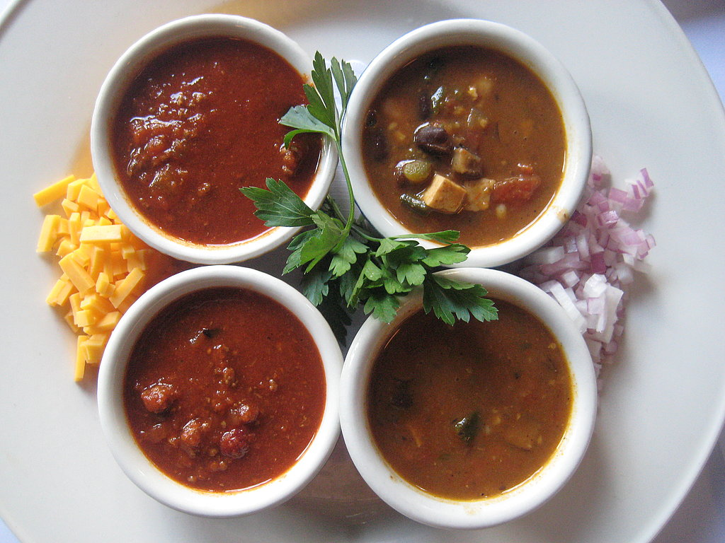 The plated chili.