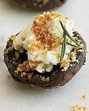 Goat Cheese–Stuffed Mushrooms with Bread Crumbs