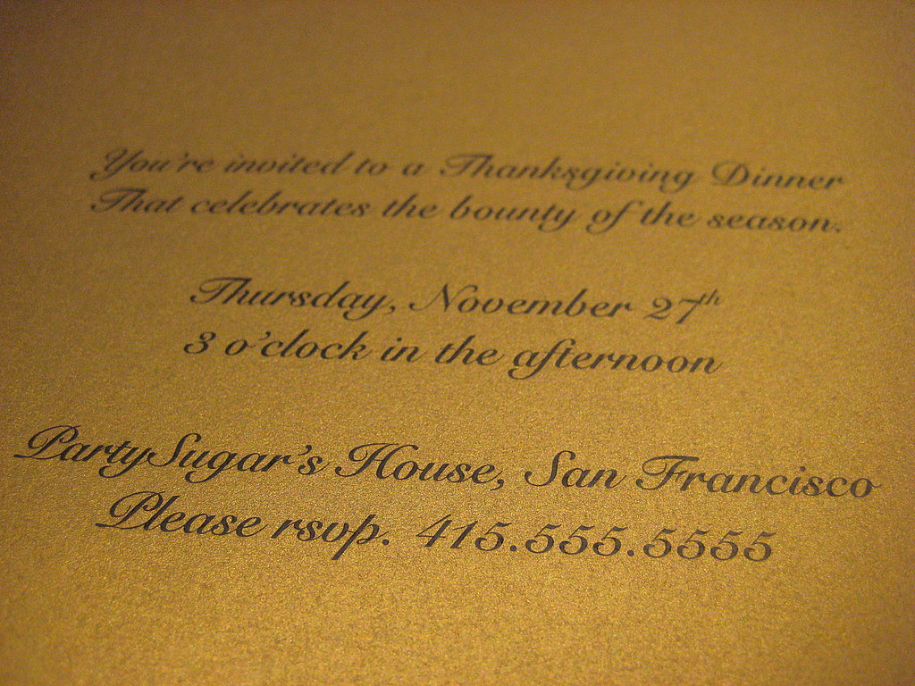 Foodie Thanksgiving Invites: Step by Step