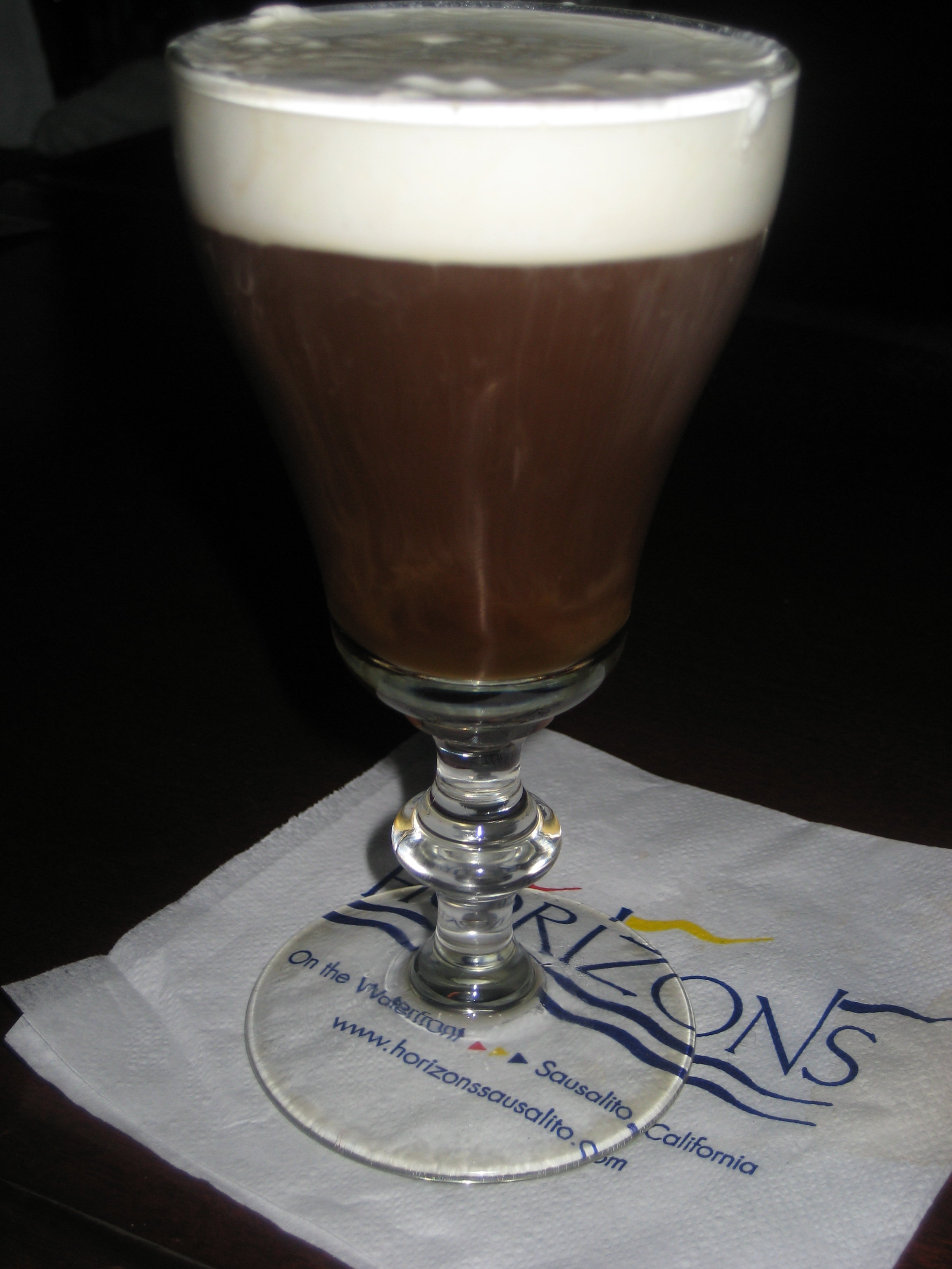 My Irish coffee.