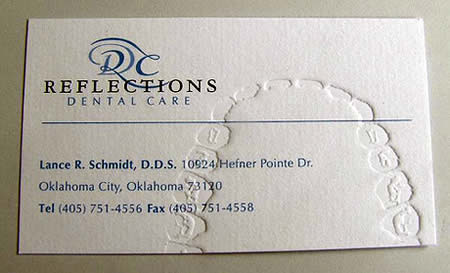 A dentist's business card.